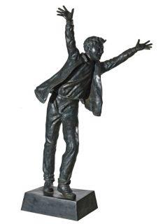 Boy Wannabe bronze statue