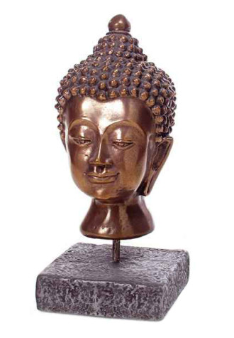 Buddha Head Table Sculpture