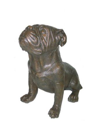 Pug Dog bronze state