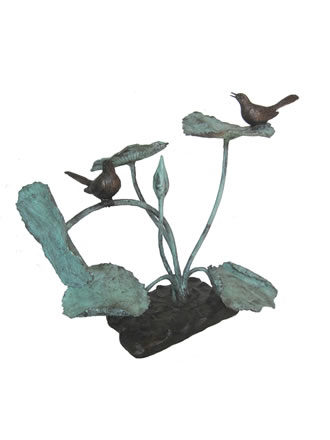 Birds On Lotus Fountain