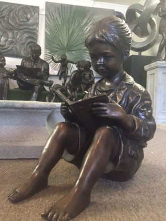 Little Girl Readin
