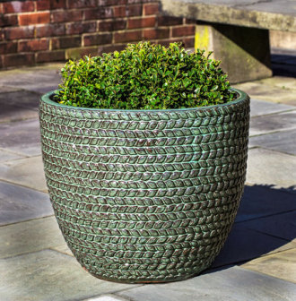 Sisal Weave Planter - Seafoam Green
